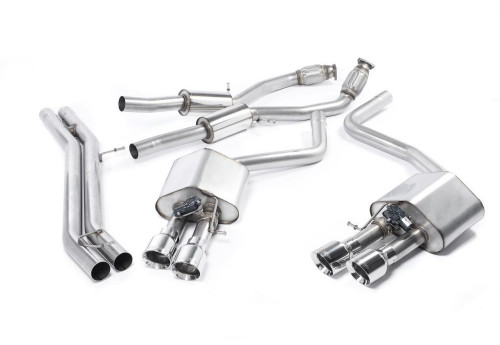 Audi S8 (D4) Milltek Non-resonated Exhaust with Polished Tips
