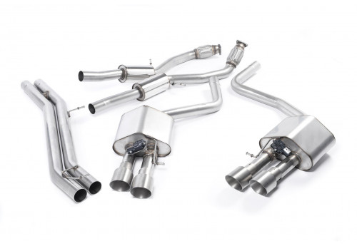 Audi S8 (D4) Milltek Non-resonated Exhaust with Titanium Tips