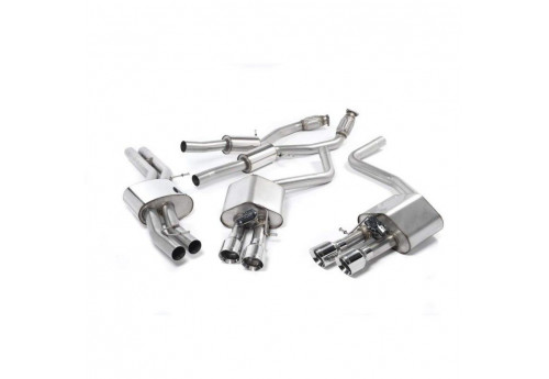 Audi S8 (D4) Milltek resonated Exhaust with Polished Tips